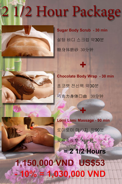 2 1/2 Hour massage Package